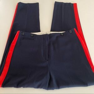 Rag & bone pants size 12 blue red women's pockets